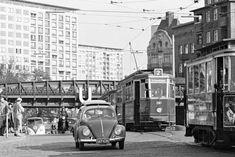 Light Rail, Volkswagen, Germany, Street View, Vintage, City, Bugs, Porsche, Garage