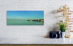 Wall View 001  Panoramic view of soft blurred horizon of morning Venetian lagoon  #marinausmanskayafineartphotograph #artforhome #artprints #homedecor #homedesign #Venice #lagoon #softblurred #turquoise
