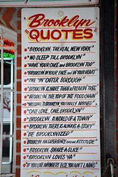 Brooklyn Sayings  www.KOEventServices.Biz