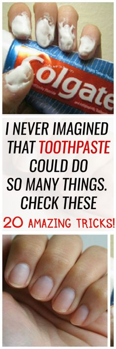 Besides its main purpose to clean your teeth, your regular toothpaste can help you do all sorts of things. Here are 20 unusual uses of toothpaste that will ease your everyday activities. Once you learn them, you might want to buy an extra tube that you'll use just for these tricks.