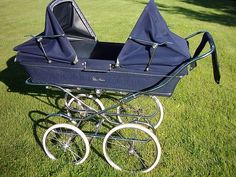 Vintage Silvercross Twin Trident Double Coachbuilt Pram  