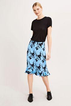 Limon skirt aop 6515, BLUE BLOOM