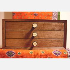 Fumed Oak Jewelry Chest now featured on Fab.