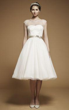 Wedding Dresses: Short Hemlines | InsideWeddings.com