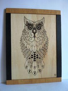 decoracion en madera pirograbada - Buscar con Google