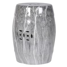 Classic meets contemporary to create the fabulous Beijing Marble Stool. This traditional Chinese design, originally used as garden stools, is perfect as a small side table or accent piece. The marble finish brings this piece bang up to date.