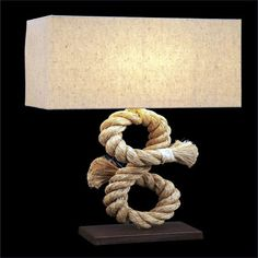 Rope Table Lamp | Our Boat House - bad image, but cool lamp!