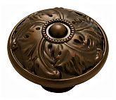 "BKD-D26-RB   Belwith Keeler Acanthus 1-1/4"" (32mm) Cabinet Knob (Refined Bronze)   thehardwarehut.com"