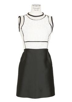 Victoria, Victoria Beckham Dress :: Victoria, Victoria Beckham white and black dress | Montaigne Market