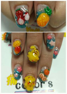 Pokemon: Character nail art