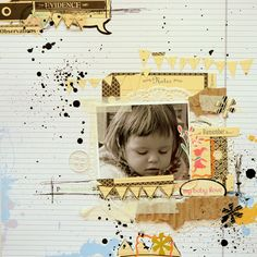 #papercraft #scrapbook #layout. I {lowe} SCRAP - Zeszyty