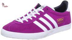 adidas  GAZELLE OG W, Chaussures de Gymnastique femme - Rose - Rosa (Pink (VIVID PINK S13 / RUNNING WHITE FTW / LEGEND INK S10), 38 EU - Chaussures adidas (*Partner-Link)