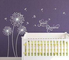 Delightful Dandelion Wall Decal   Dandelion Seeds Blowing In The Wind   Flower Wall  Decor   Medium | Dandelion Wall Decal, Wall Decals And Walls