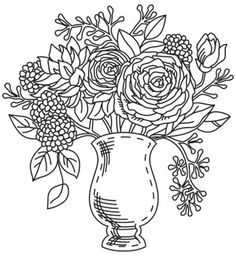 Engraved Vase | Urban Threads: Unique and Awesome Embroidery Designs