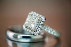 The Top Wedding Ring Buying Tips Different Engagement Rings, Square Engagement Rings, Elegant Engagement Rings, Halo Diamond Engagement Ring, Unique Rings, Beautiful Rings, Elegant Wedding Rings, Ring Verlobung, Halo Rings