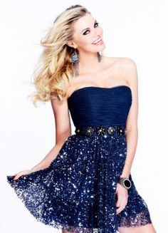 Sherri Hill dresses are designer gowns for television and film stars. Find out why her prom dresses and couture dresses are the choice of young Hollywood. Pretty Dresses, Blue Dresses, Short Dresses, Formal Dresses, Strapless Cocktail Dresses, Strapless Dress Formal, Evening Dresses, Marine Uniform, Dresses 2013