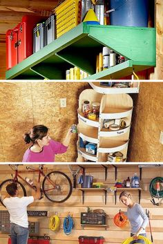 Garage Storage: Get garage storage ideas to maximize every inch in your garage. http://www.familyhandyman.com/garage/storage