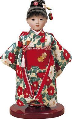 市松人形。 Japanese Doll, Japanese Geisha, Japanese Fabric, Vintage Japanese, Old Dolls, Antique Dolls, Vintage Dolls, Oriental, Japanese Artwork