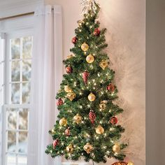 5 Ft Wall Christmas Tree ($80) ❤ liked on Polyvore featuring home, home decor, holiday decorations, wall ornaments, wall mount hooks, wall hooks, holiday wall decorations and personalized christmas tree ornaments