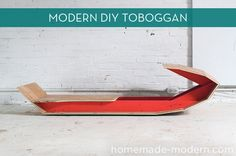 How To: Make Your Own Modern Sled For Under $60