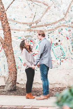 Philadelphia Winter Engagement | Magic Gardens | Trousseau Style