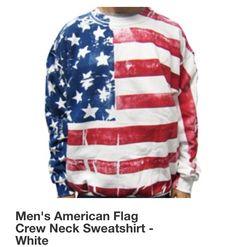 Men's America Sweater #Merica #America #HomeOfTheBrave #Fashion #Men #MensFashion #Clothes #Sweatshirt #Sweater