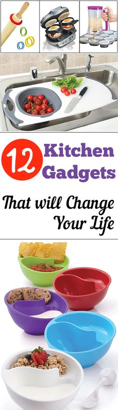 12 Kitchen Gadgets that will Change Your Life. DIY, DIY home projects, home décor, home, dream home, DIY kitchen, DIY kitchen projects, weekend DIY projects.