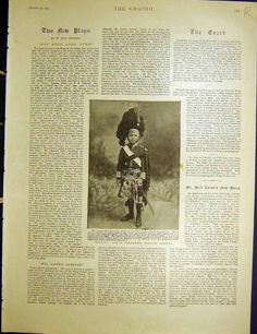 Antique Print of Captain Shotter Boy Officer Aldershot Boer Ship 1900