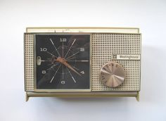 Vintage Westinghouse Clock Radio by TheVintageResource on Etsy, $42.00