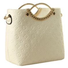 Vonfon Bag Work Place Embossed Fashion Handbag White Vonfon 13.88$