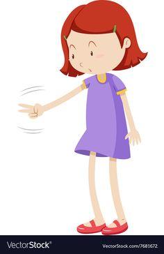 Girl playing rock paper scissors vector image on VectorStock Rock Paper Scissors, Games For Kids, Adobe Illustrator, Vector Free, Pdf, Disney Characters, Children, Illustration, Artwork