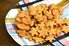 Homemade Cheese Crackers: A Whole Grain, Healthy Treat - looking at making these, just reviewed thefamilykitchen article re: snacks we feed our kids, single serving of the popular cheese crackers aimed at the children's market can have nearly 15 percent of the DV for fat and almost 10 percent of the DV for sodium and more!