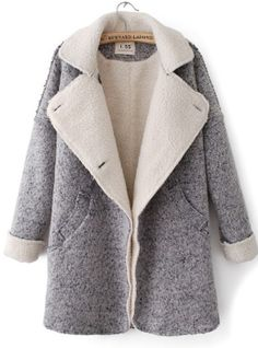 gray long sleeve turn-down neck single breasted wool coat http://www.clothesway.net/gray-long-sleeve-turndown-neck-single-breasted-wool-coat-p-3505.html
