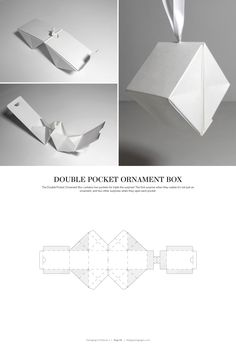 Double Pocket Ornament Box – FREE resource for structural packaging design dielines