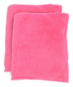 Loving this Pink Fleece Throw - Set of Two on #zulily! #zulilyfinds