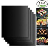 #6: Aoocan Grill Mat Set of 5- 100% Non-stick BBQ Grill & Baking Mats  FDA-Approved PFOA Free Reusable and Easy to Clean  Works on Gas Charcoal Electric Grill and More  15.75 x 13 Inch