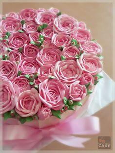 Sweet pink rose. Butter cream.