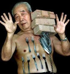 In Malaysia, 78 years old Liew Thow Lin is known as the Human Magnet or Mr. Magnet . He can make metal objects, weighing up to 2kgs, stick to his skin without any aid and he is a scientific mystery because there is no trace of a magnetic field around his body. Scientists say his skin is also normal and there is no explanation for his unusual talent.