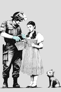 Banksy Wizard of OZ - Dorothy #street art #graffiti