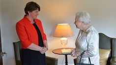 First Minister Arlene Foster meets the Queen on Monday.