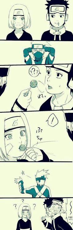 Hoooooooooooooooooooooo kakashi cupidooooo like a Mother fucker Boss Anime Naruto, Naruto Comic, Naruto Shippuden Sasuke, Naruto Kakashi, Naruto Fan Art, Naruto Teams, Naruto Cute, Otaku Anime, Team Minato