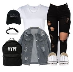 """White converse and jeans"" by jaziscomplex on Polyvore featuring RE/DONE, Converse, Nasaseasons, Sterling Essentials, Barzel and ASAP"