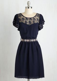 Indie Darling Dress in Navy From the Plus Size Fashion Community at www.VintageandCurvy.com