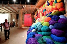 "Escalede beyond chromatic lands, Sheila Hicks""Viva Arte Viva"""