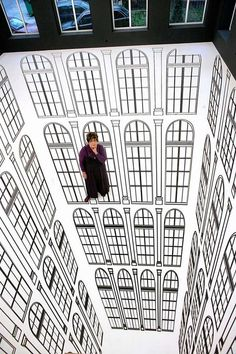 Brazilian artist Regina Silveira, creates incredible illusions