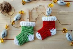 Free Mini Crochet Christmas Patterns | New Pattern – Crochet Christmas Stocking Ornaments « Crochet ...