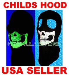 CHILD-KIDS SKULL SKI MASK GLOW IN THE DARK MW2 COD GHOST YOUTH 2 HOLE Balaclava http://www.shop.skullstore.com/