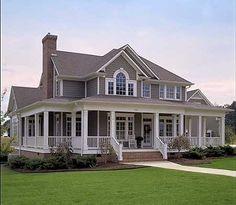 Love this farm house and wrap around porch! 2112 sqft