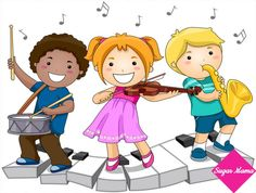 Children playing with Musical Instruments Stock Photo Clip Art, Music Clipart, Kindergarten, Preschool Music, School Clipart, Music For Kids, Children Music, Kids Songs, Young Children