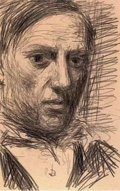 Self portrait by Pablo Picasso, 1940, pencil on paper, Museum Ludwig, Cologne.